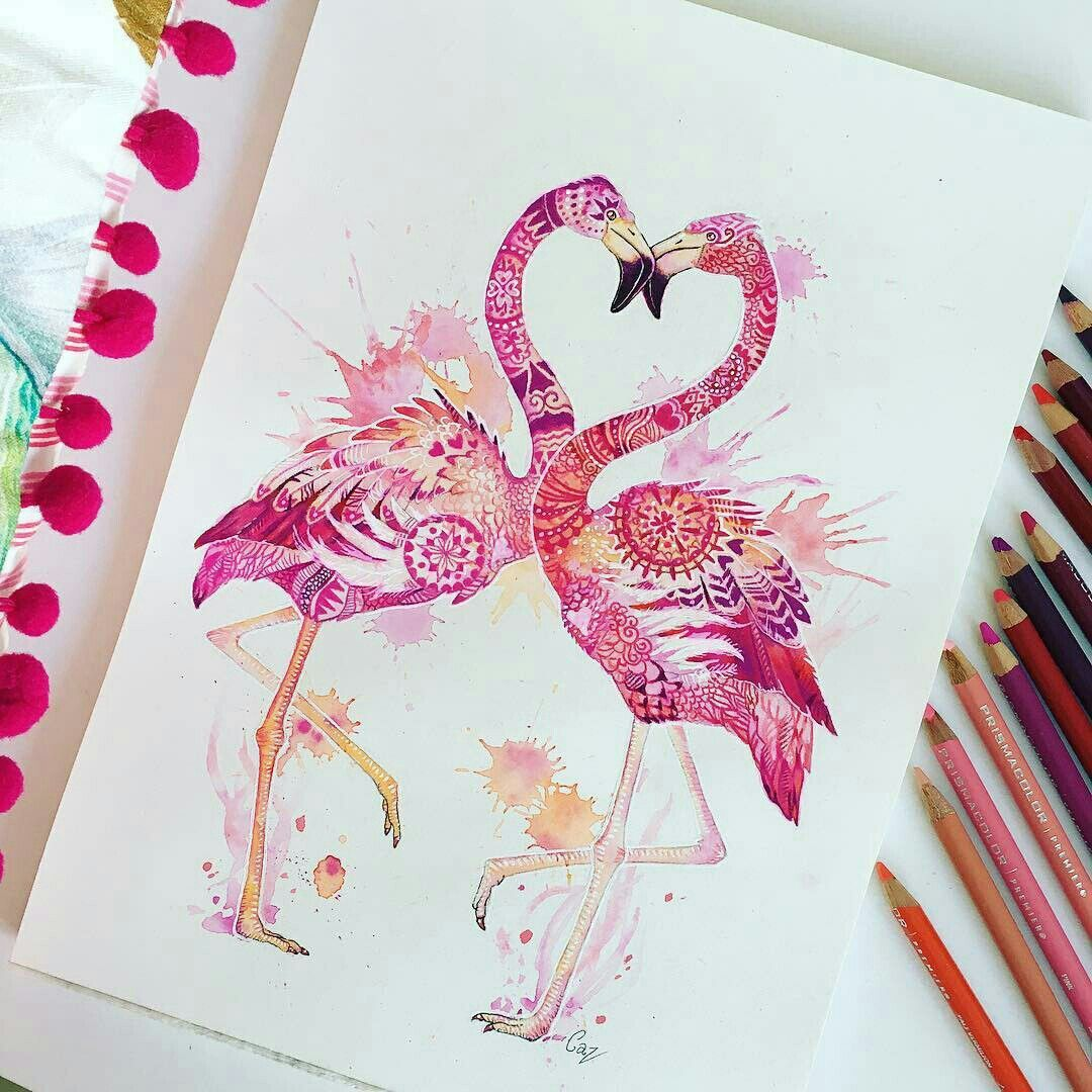 xggcgg flamingo art flamingo tattoo watercolor mandala pinterest