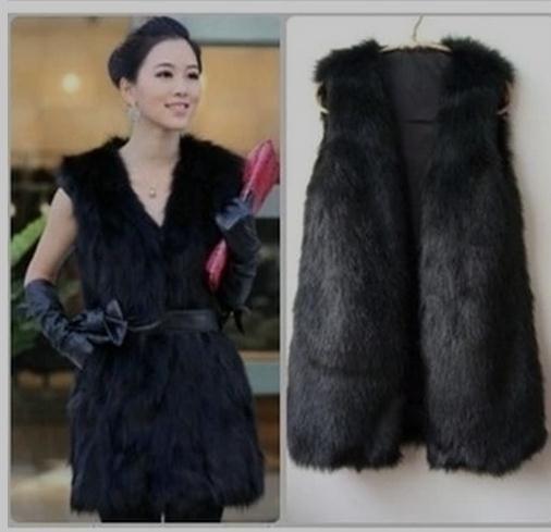 >> Click to Buy << 2017 New Womens Long Section Faux Fur Black Vest Female Colete De Pele Sleeveless Fur Jacket Man-Made Waistcoat Tops S/3Xl K43 #Affiliate