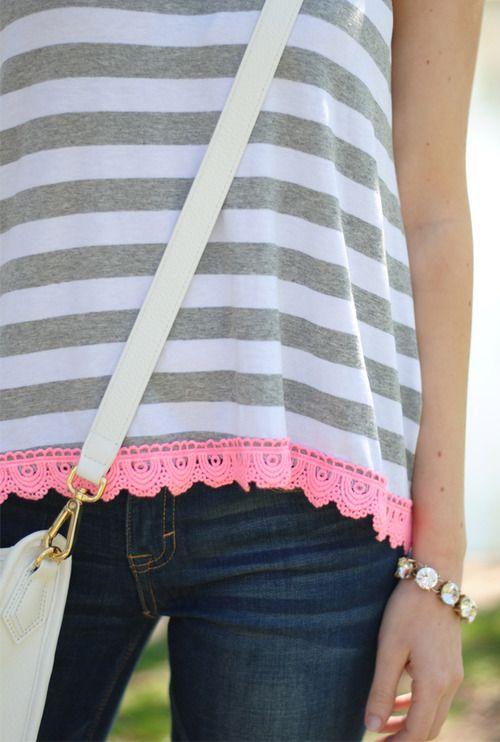 Stripes & Pink Trim
