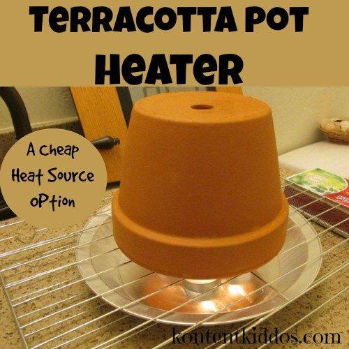 Emergency Preparedness Ideas: Terracotta Pot Heaters