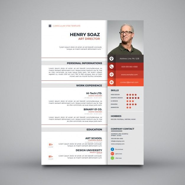 Download Modern Simple Template For Curriculum For Free Cv Template Free Resume Design Template Resume Design Creative
