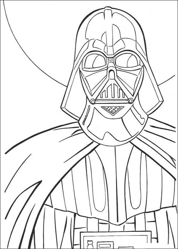 Star Wars Darth Vader Yoda Coloring Pages For Kids Storm Trooper