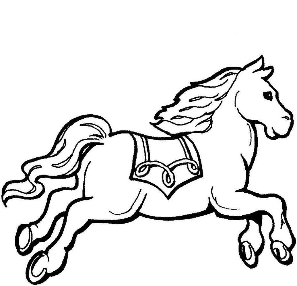 Pequeño pony. Colorear y pintar. | Caballos para imprimir y colorear ...