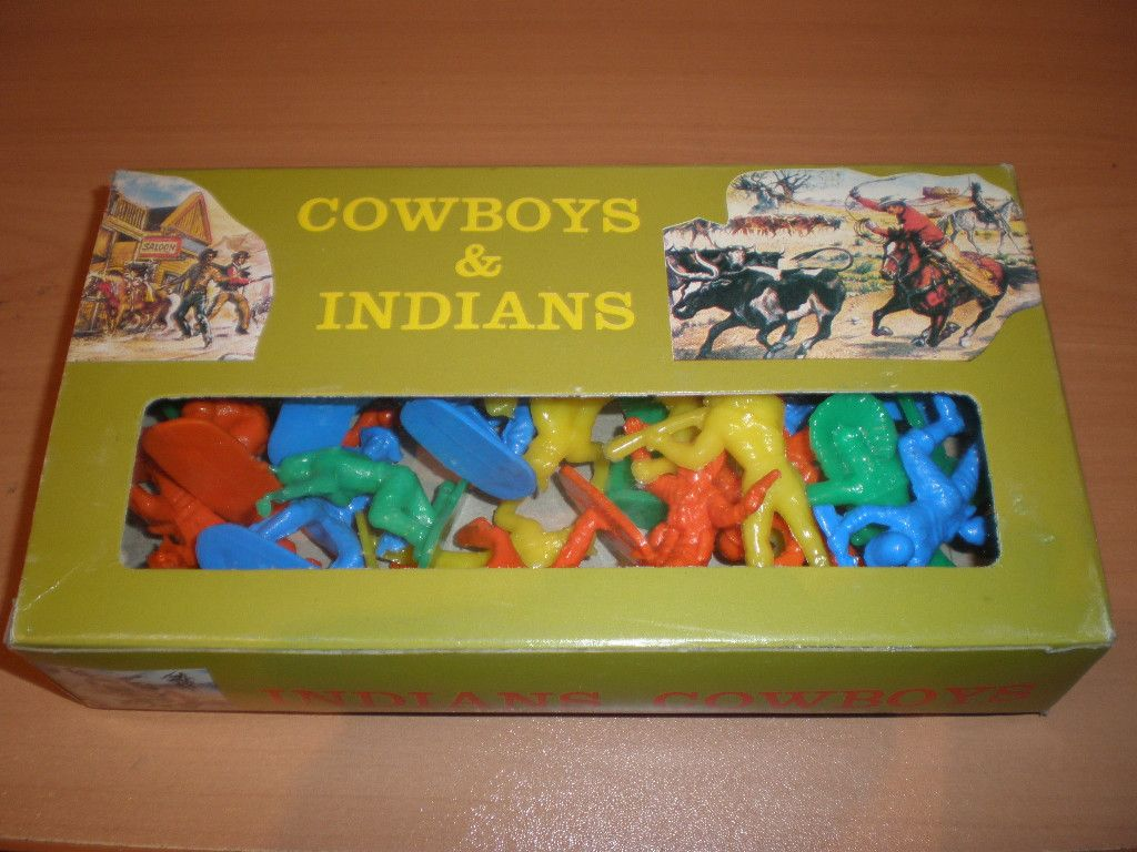 70s Toys Plastic Toy Soldiers Western Indians Memories