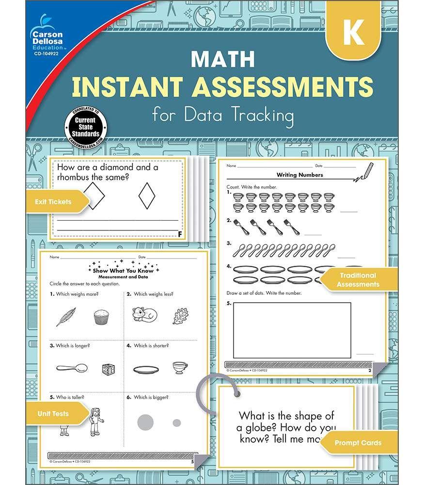Instant Assessments for Data Tracking Resource Book   Kindergarten ...