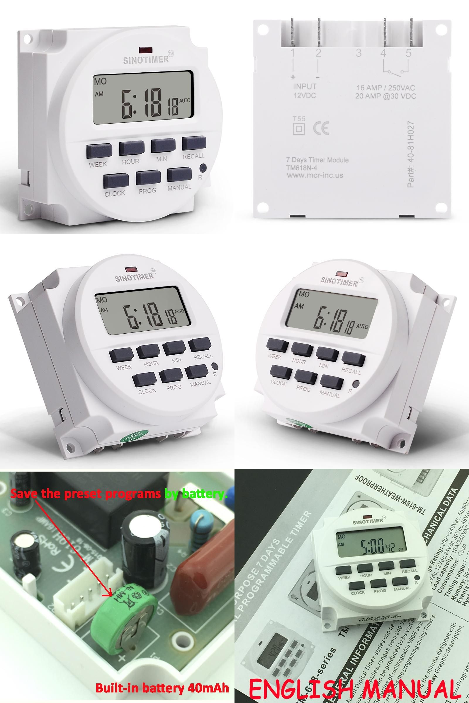 Visit To Buy Sinotimer Brand Wholesale Timer 12v Dc Time Switch 7 Days Programmable 24hr Time Relay Panel Mounted Advertisement Timer Cooking Timer Paneling