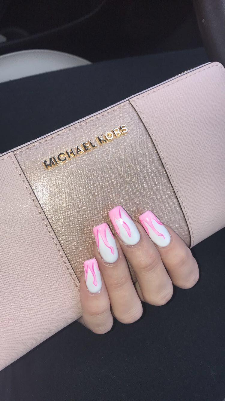 My Pink Flame Nails Beautyhacksnails Pink Nail Designs Pink Nails Beauty Hacks Nails