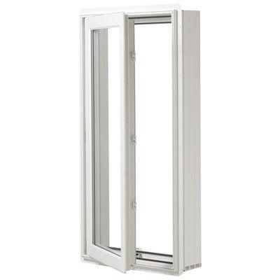 Jeld Wen Window B00459 Premium 24 In X 60 In Vinyl Low E Argon Double Pane Casement Vinyl Casement Windows Casement Windows Casement