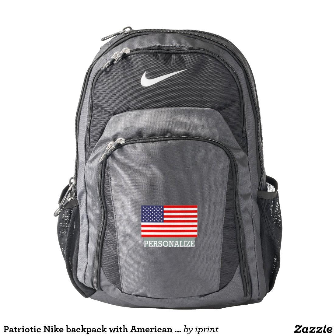 53ce4adb48ba Patriotic Nike backpack with American flag | Zazzle.com | Backpacks ...