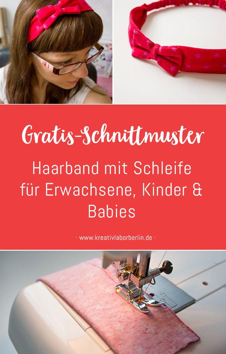 Neue Nähanleitung: Haarband mit Schleife in 5 Größen (Baby bis Erwachsene) - Kreativlabor Berlin