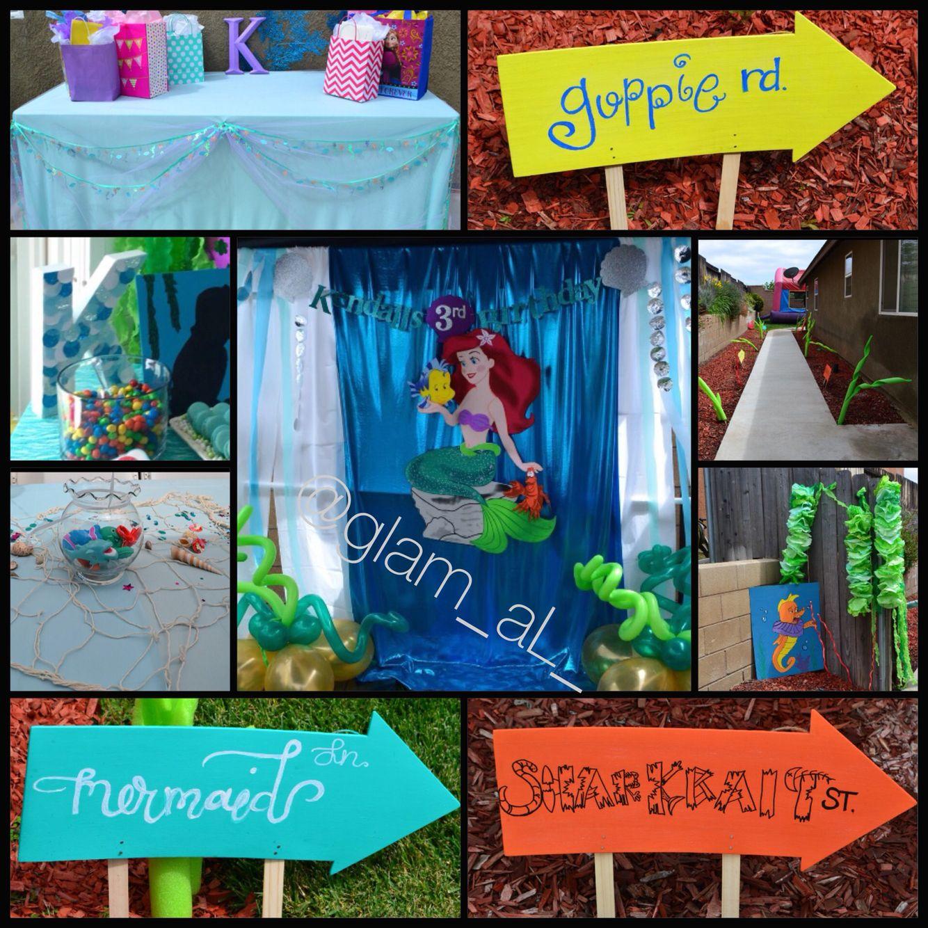 "Little Mermaid ""Under the Sea"" Birthday party ideas"