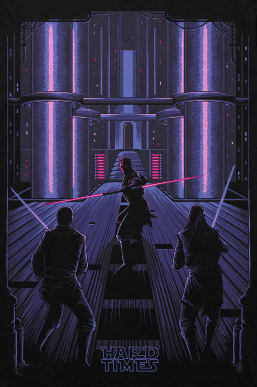#CoolArt: May The 4th Exclusive T Shirts & Prints From Hard Times Clothing