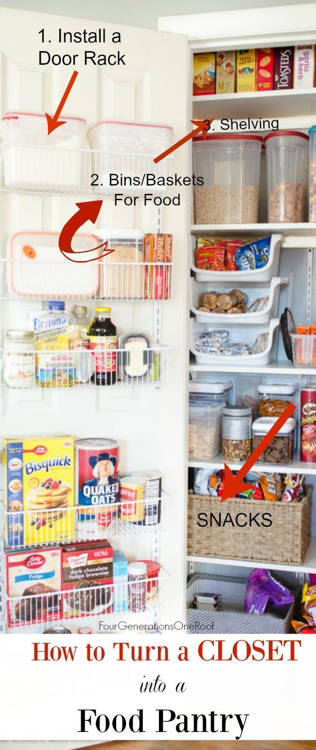 Diy kitchen closet pantry how to turn a small closet into a kitchen