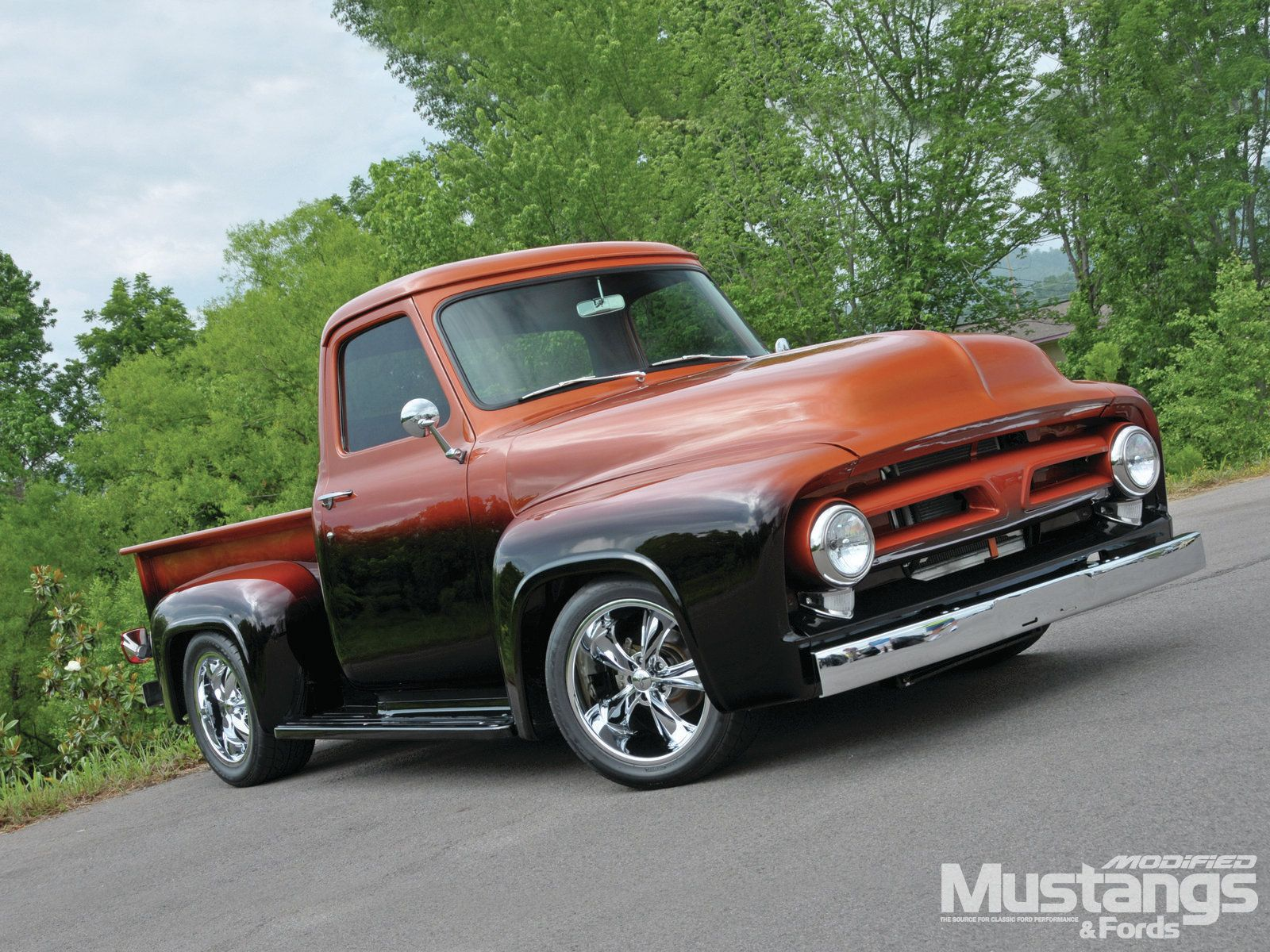 1953 F100 I Love The Lines Of This Two Tone Paint Just Not My