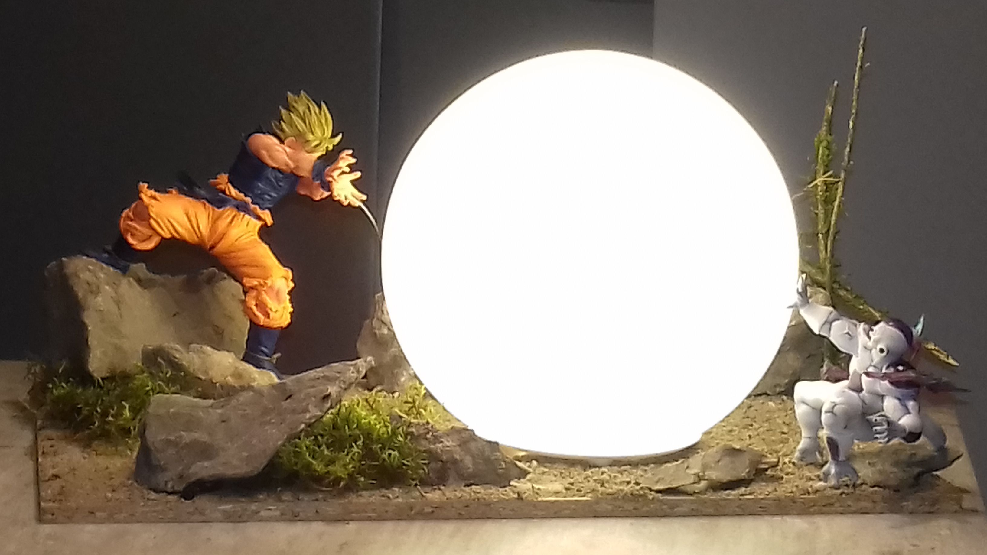 Vegeta Final Flash Jaune Figurine Lampe Dragon Ball Dragon