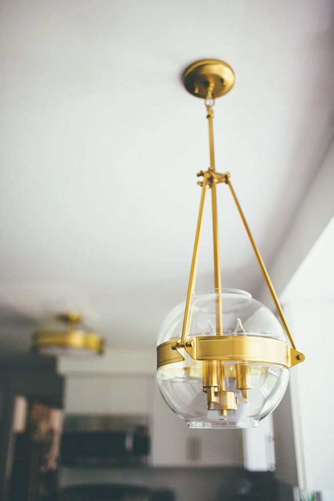 Photo of Gold Light Fixtures in the Kitchen »Alice Wingerden # alice #fixtures #gold #kit …