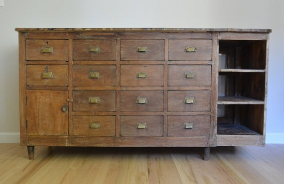 Gorgeous Multi Drawer Antique Cabinet So Many Uses For The Piece Two Sided Cabinet Would Display Great Fro In 2020 Antique Cabinets Small Cupboard Entryway Furniture