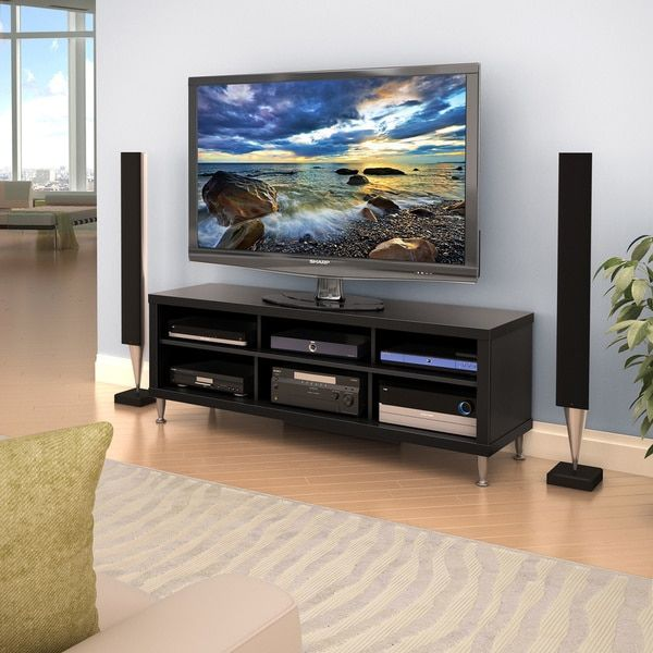 valhalla broadway black tv stand if we go with floor speakers this will be the one find this pin and more on television