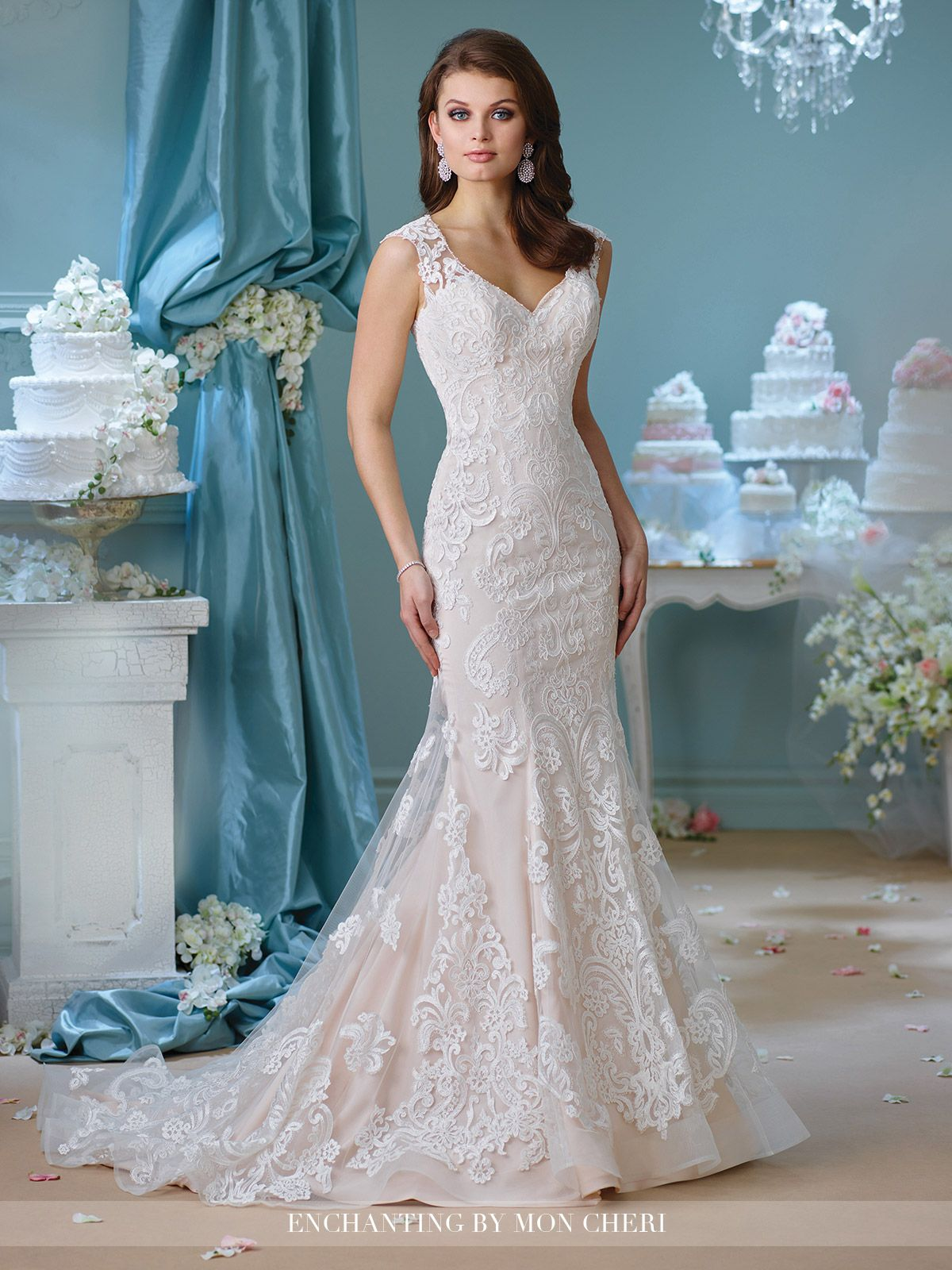 Cap Sleeve Fit & Flare Wedding Dress- 216151- Enchanting by Mon ...
