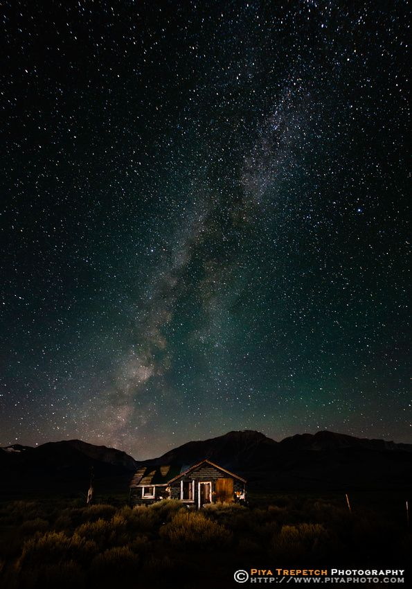Abandoned Home and Milky Way - Eastern Sierra, California