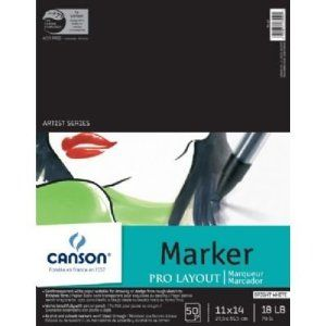 Amazon Com Canson Pro Layout Marker Pad 11x14 Arts Crafts Sewing Recommended By Tristan From Besotted Canson Marker Paper Pens Markers