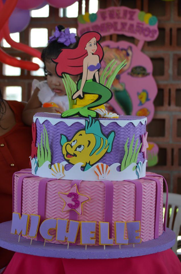 sirena Decoraci/ón para tarta de sirena cumplea/ños fiesta ni/ña Ariel fiesta de sirenita