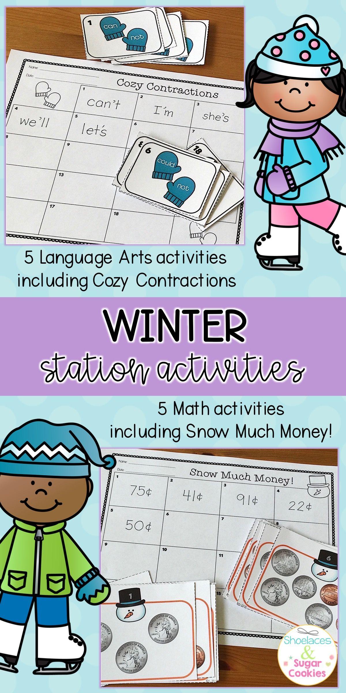 Winter Activities | Math activities, Language arts and Math