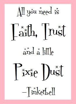 Dust Quote Amusing Cute A Little Pixie Dust  Tinkerbell Quote Art Print.
