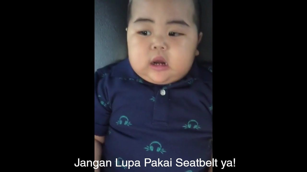 Funny Baby Video Baby Tatan Say Dont Forget Use Seatbelt All