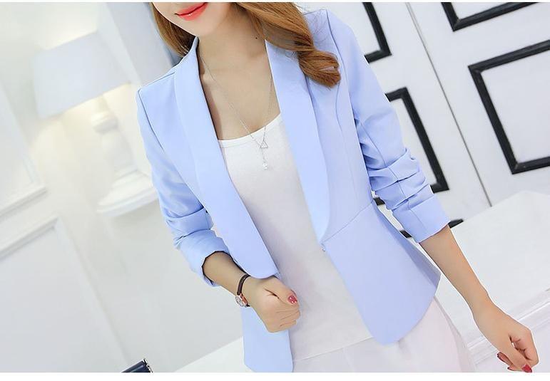 Long Sleeve Ladies Blazer Blaser Suit Jacket 2