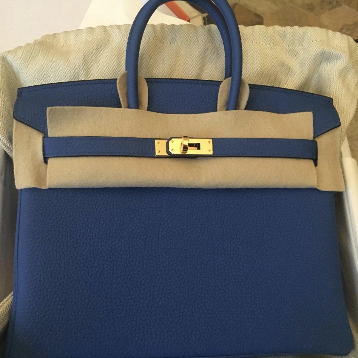 ac815e84705 Hermès Birkin 25 Bleu Zellige Togo Gold Hardware GHW C Stamp 2018  birkin25   thefrenchhunter  authenticonly  hermesworld  hermesusa  hermeseurope ...