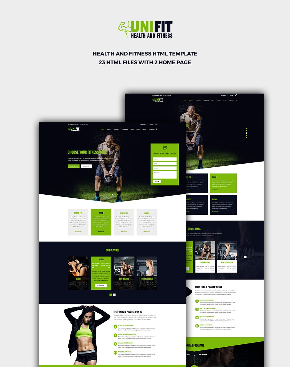Unifit Health and Fitness HTML Template #AD #Health, #Unifit, #Fitness, #Template