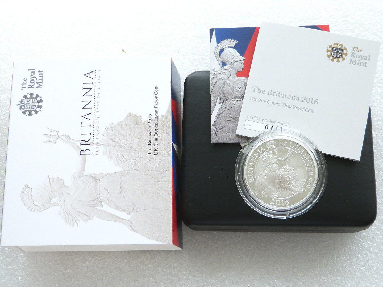 2016 Britannia 2 Two Pound Silver Proof 1oz Coin Box Coa