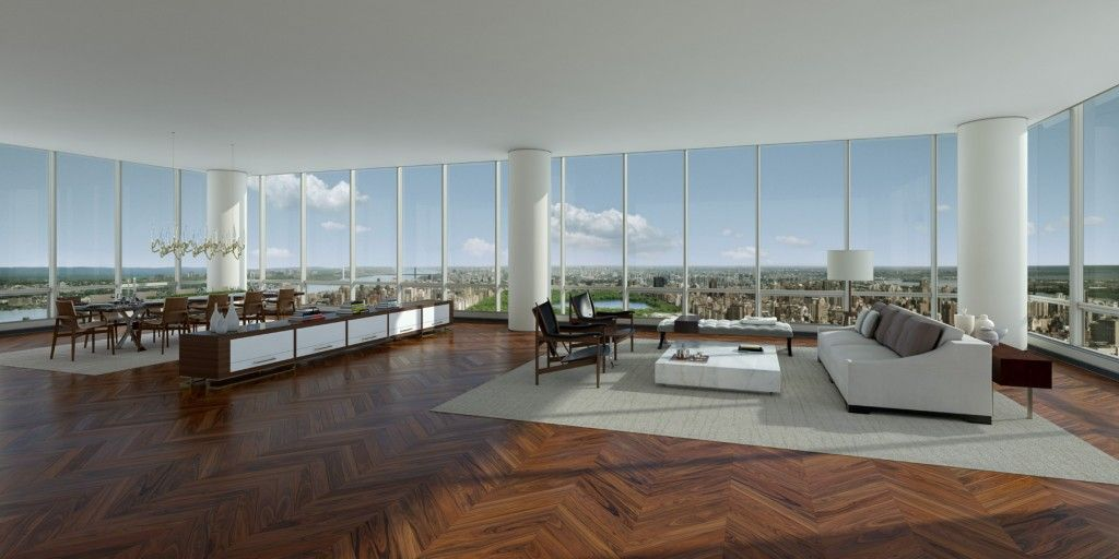 A penthouse condo being built in manhattan is set to be the most expensive ever in that pricey neighborhood the penthouse is a glassed walled two story