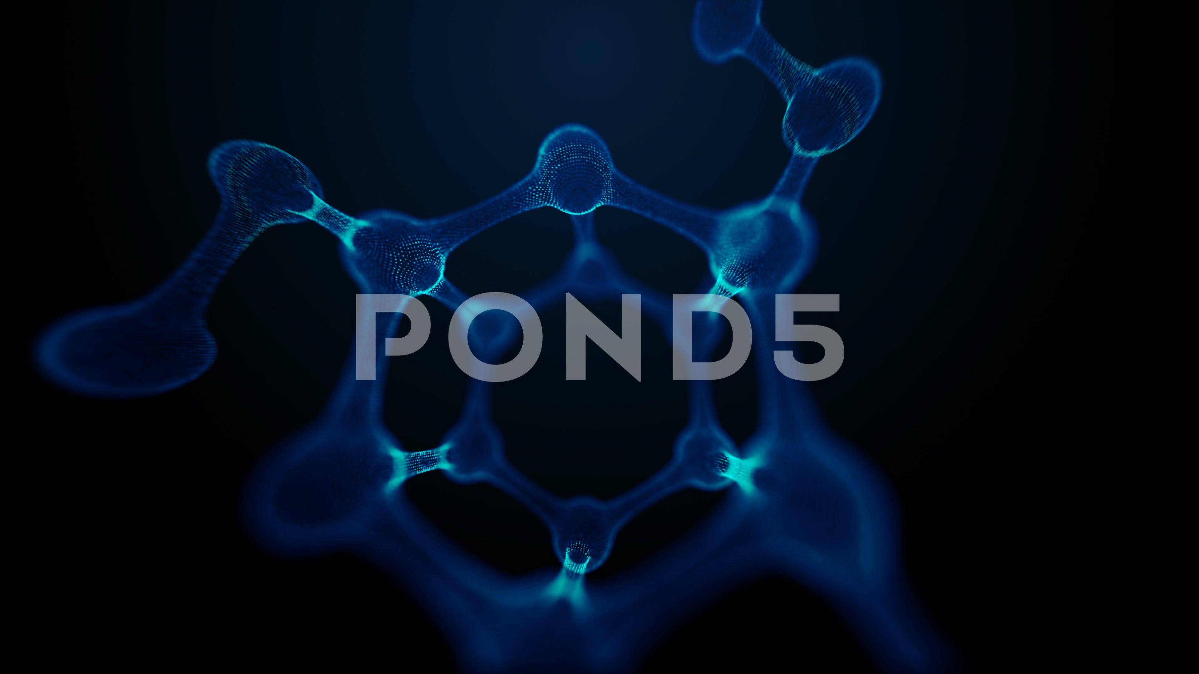 Looped molecule or atom science or medical background Stock Footage atomscienceLoopedmolecule