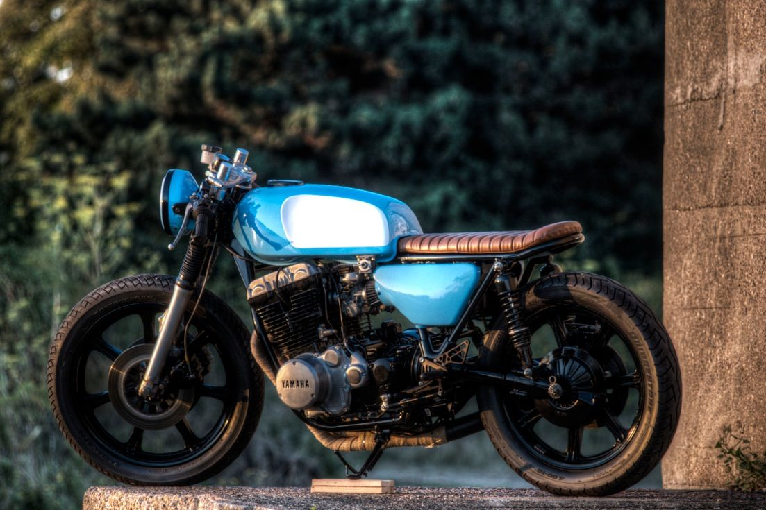 custom build cafe racer yamaha xs750 for enquires on this bike or