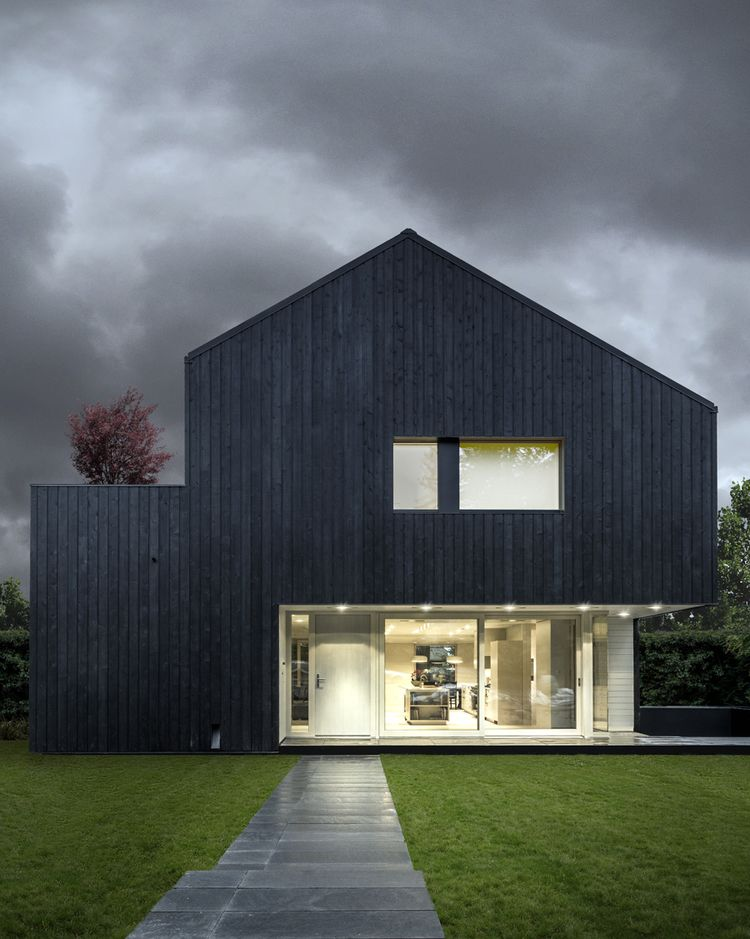 Passive House inspired by traditional Japanese wood conservation technique.