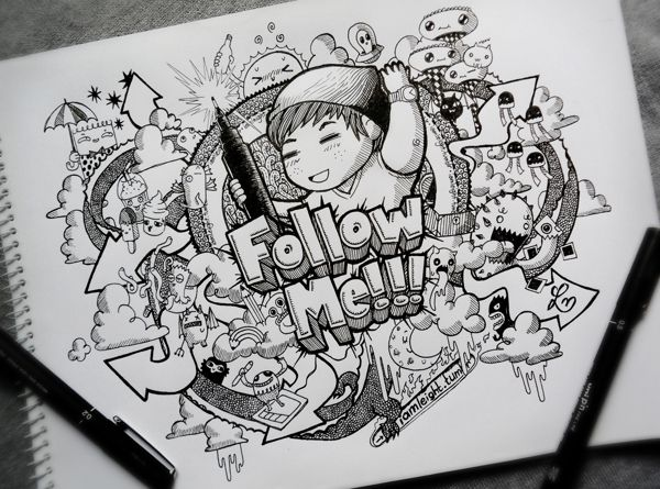 Follow Me by Lei Melendres, via @Behance