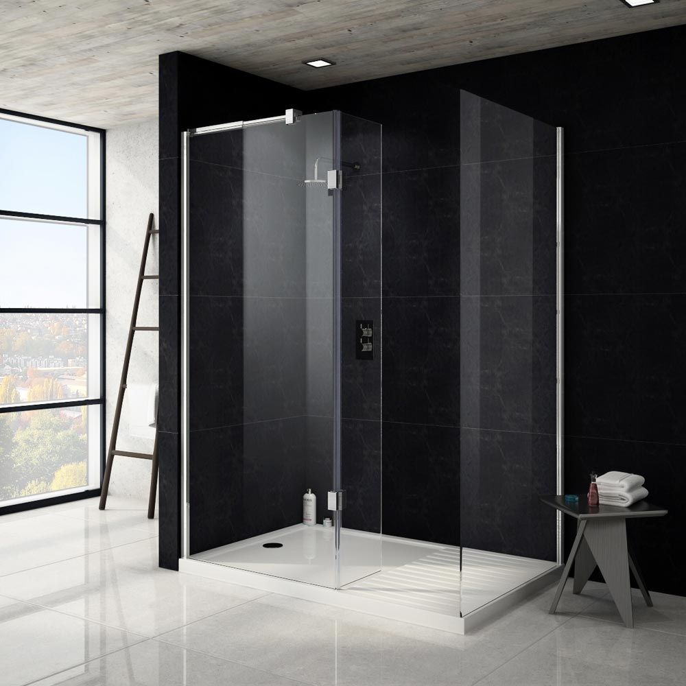 Apollo Walk In Shower Tray With Drying Area - 1600 x 800mm Profile ...