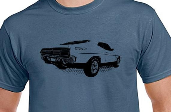 XB Falcon, Classic car, Turbo, street machines, Muscle cars, Mens Indigo Blue, 100% cotton light weight summer T-shirt