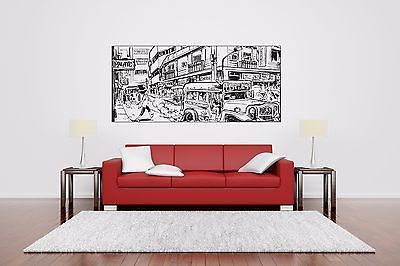Wall Room Decor Art Vinyl Sticker Mural Decal Comics Scene Poster Street AS3003