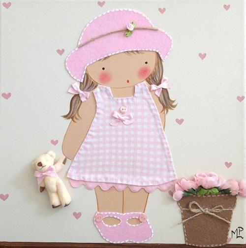 Cuadros de beb s artesanales y personalizados de bb the - Cuadros artesanales infantiles ...