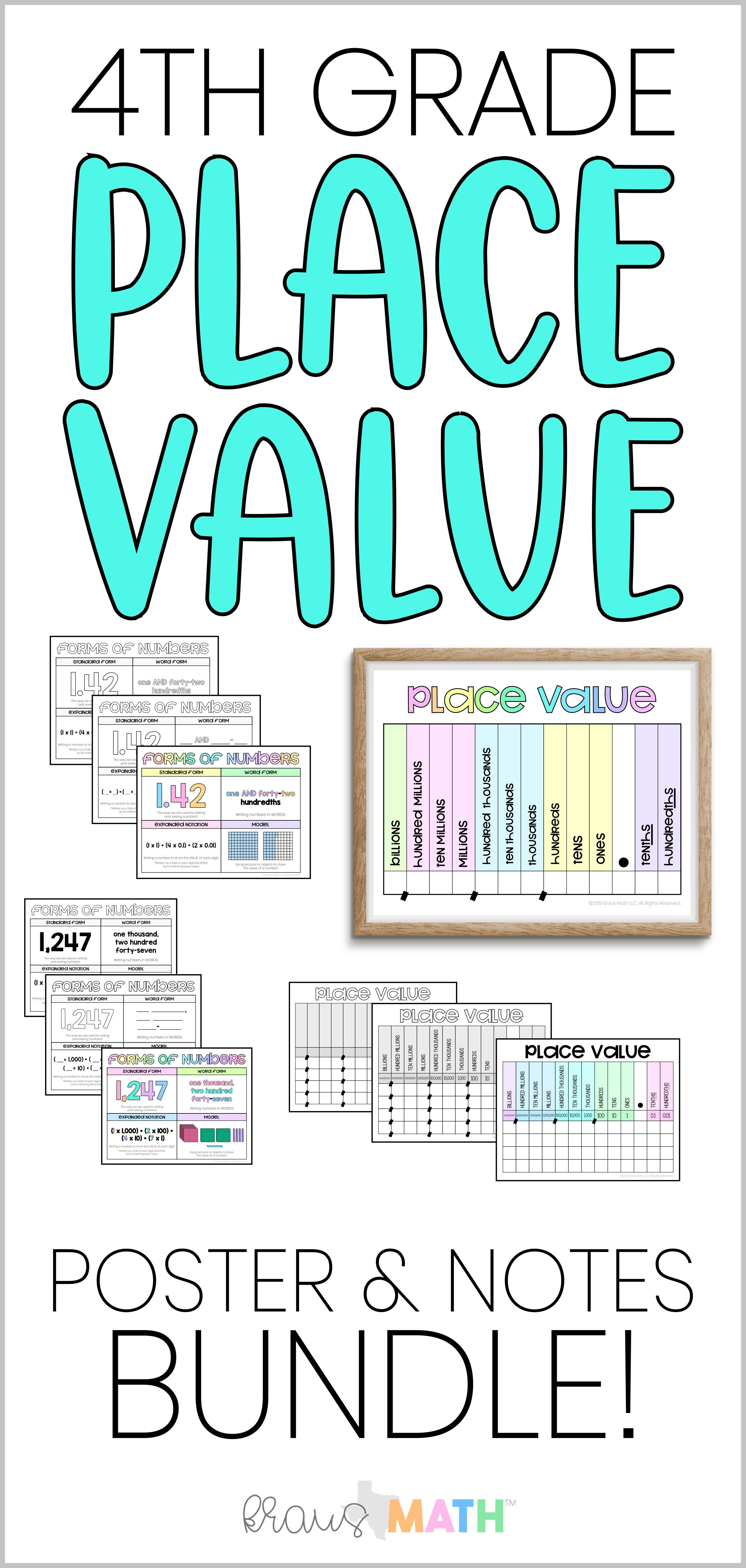 4th Grade Place Value Amp Forms Of Numbers Bundle With