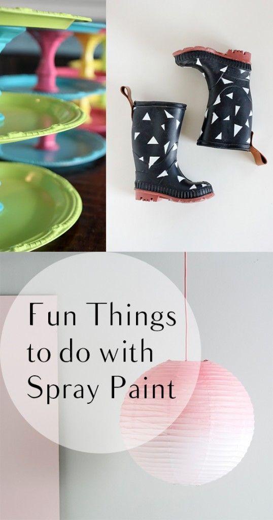 12 Fun Ways to Use Spray Paint   Spray painting, Fun things and Sprays