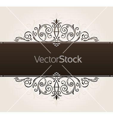 Template For Text Vintage Frame Decorated With Vector Image On Vectorstock Vintage Frames Vintage Frame