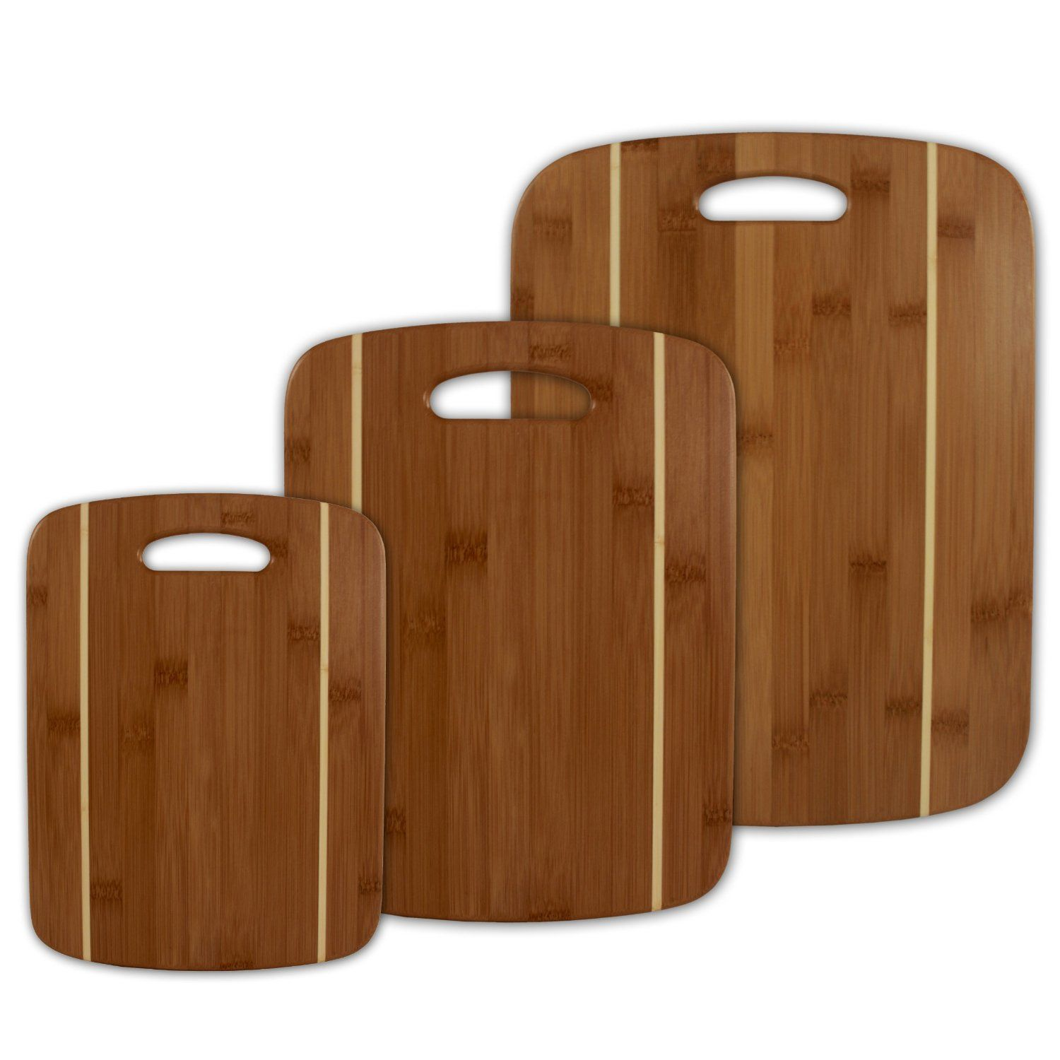 Totally Bamboo Stripe Cutting Board Set Home And Garden