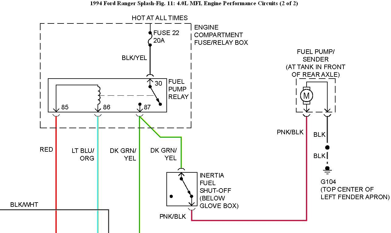 Ford Fuel Pump Relay Wiring Diagram  With Images
