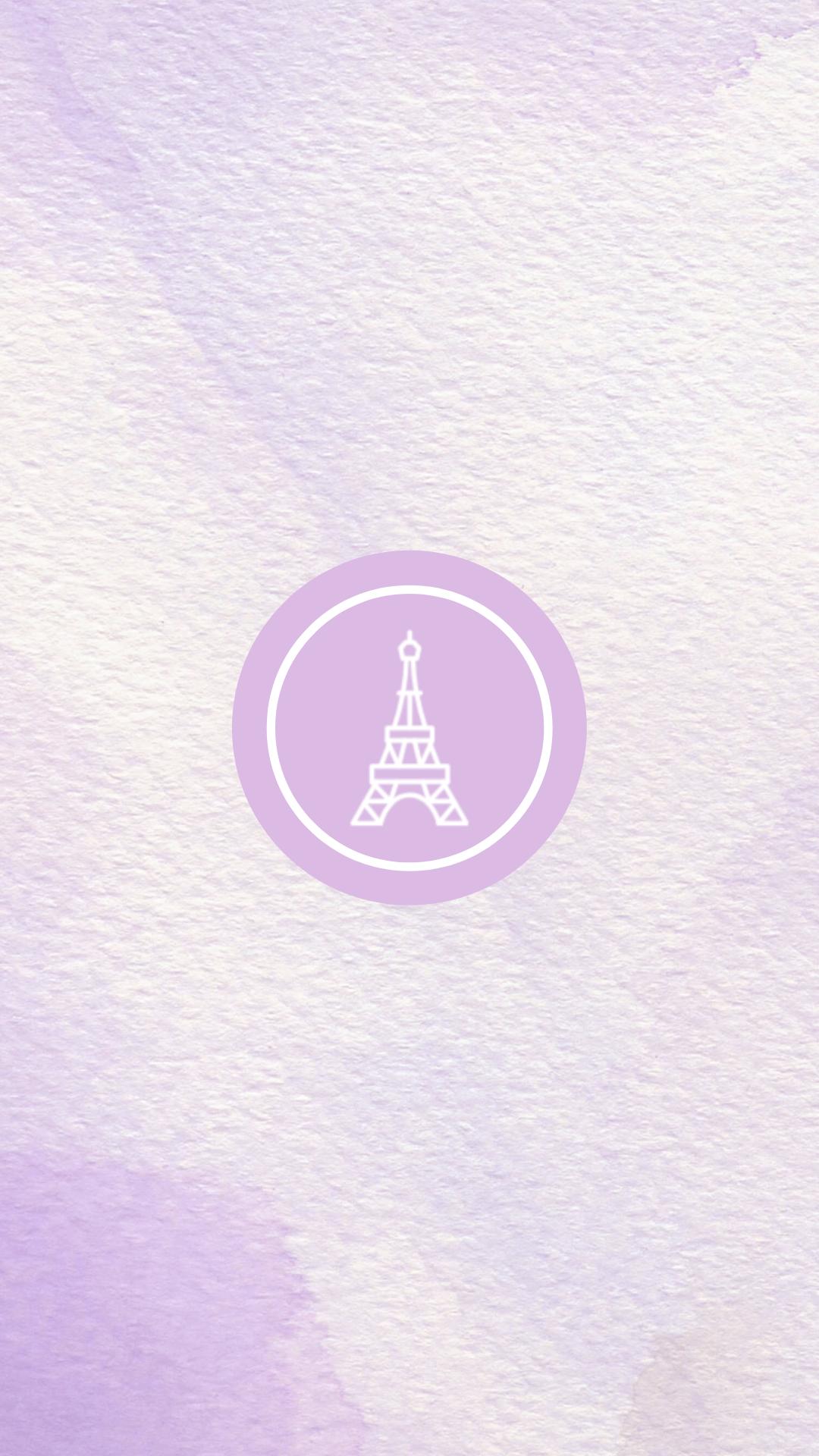 50 x Light Purple Lavender Watercolour Instagram Story