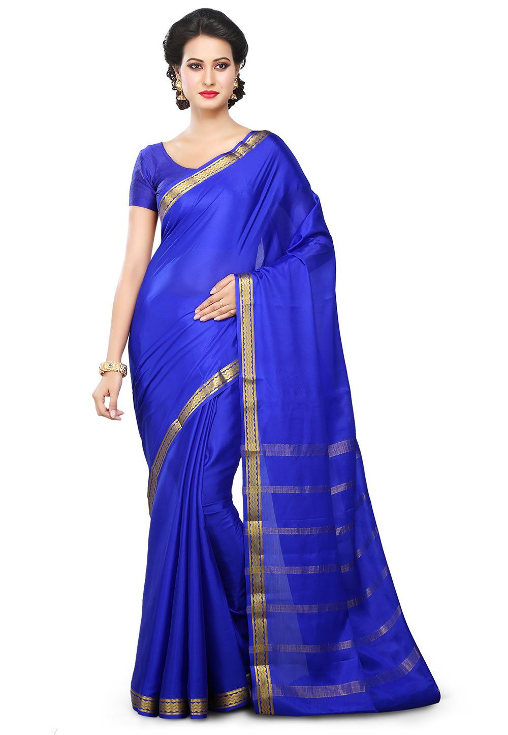 30cc0610a2 Woven Pure Mysore Silk Saree in Royal Blue | sarees in 2019 | Mysore ...