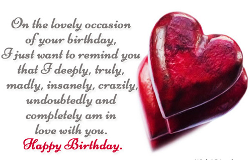 happy birthday wishes girlfriend Birthday quotes for